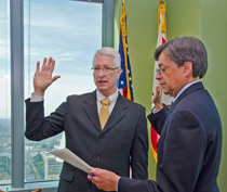 Brian R. Leahy is sworn in as director of DPR by 