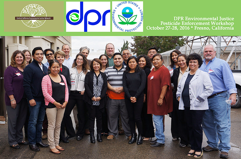 Members at the DPR Environmental Justice Pesticide Enforcement Workshop.