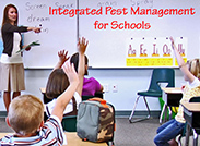 Teacher educating children on integrated pest management